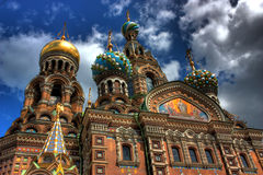 Saint-Petersburg, Russia. Church of Our Savior on Spilled Blood in Saint-Petersburg, Russia Stock Images