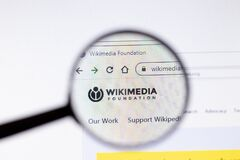 Free Saint-Petersburg, Russia - 18 February 2020: Wikimedia Foundation Company Website Page Logo On Laptop Display. Screen With Icon, Royalty Free Stock Photo - 172755515