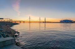 Saint-Petersburg, views to Gulf Finland. stock photography