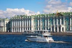 Hermitage waterfront, Saint Petersburg Royalty Free Stock Image