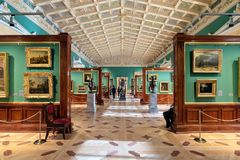 The interior of the the State Hermitage, a museum of art and culture stock images