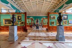 The interior of the the State Hermitage, a museum of art and culture royalty free stock photography