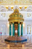 Malachite rotunda Hermitage in the State Hermitage, a museum of art and culture royalty free stock images