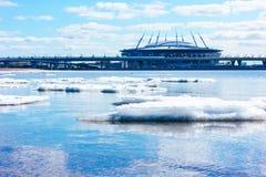 SAINT-PETERSBURG, RUSSIA, APRIL 12, 2019: Zenit Arena , St. Petersburg , Krestovsky - football stadium royalty free stock photography