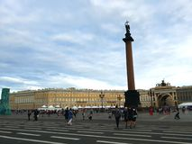 Palace Square, the central city square of St Petersburg royalty free stock photo