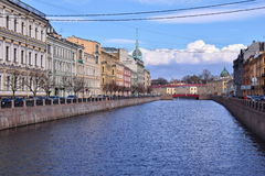 Saint Petersburg, Russia Canal View. Canal view in Saint Petersburg, Russia with tour boat stock photography