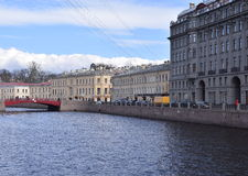 Saint Petersburg, Russia Canal View. Canal view in Saint Petersburg, Russia with tour boat Royalty Free Stock Photos