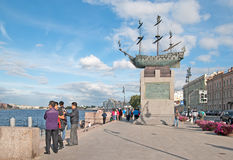 Saint-Petersburg. Russia. Chinese people on the Voskressenskaya Embankment Stock Photography