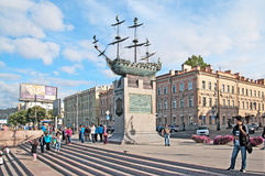 Saint-Petersburg. Russia. Chinese people on the Voskressenskaya Embankment Royalty Free Stock Image