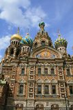 Saint-Petersburg, Russia, church spas na krovi Royalty Free Stock Photography