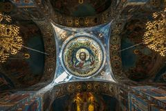 Saint Petersburg, Russia - Circa June 2017: Interior of the Church of the Saviour on Spilled Blood in St. Petersburg Stock Image
