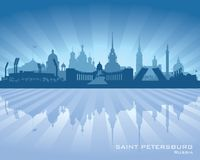 Saint Petersburg Russia city skyline silhouette. Vector illustration stock illustration