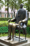 Saint Petersburg Russia. Controversial bronze sculpture by Michail Schemjakin, that depicts Peter The Great with a strikingly small head in St. Petersburg Stock Images