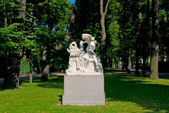 Saint-Petersburg. Russia. Cupid and Psyche Sculpture Royalty Free Stock Photography
