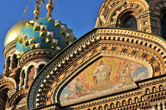 Saint-Petersburg, Russia. Detail of the Church of Saint-Petersburg, Russia Royalty Free Stock Photo