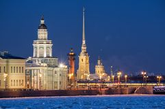 Sights of Saint-Petersburg, Russia Royalty Free Stock Photos