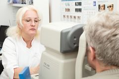 Optometrist doctor Royalty Free Stock Photography