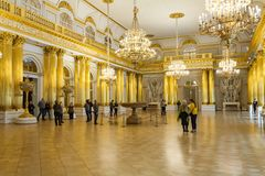 SAINT PETERSBURG, RUSSIA - FEBRUARY 23: State Hermitage Museum, interior,FEBRUARY 23 2017. Stock Photography