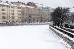St. Petersburg Fontanka river embankment Stock Image