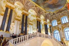 Jordan Staircase in Winter Palace, State Hermitage Museum. Saint Petersburg. Russia. Saint Petersburg, Russia - January 3, 2018: Jordan Staircase in Winter stock photo
