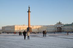 Palace Square and Arch of the General Staff Royalty Free Stock Photo