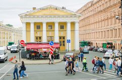 Beautiful architecture of St. Petersburg. Metro station royalty free stock photography