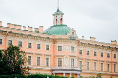 Beautiful urban architecture of the city of St. Petersburg. Historical building stock photo