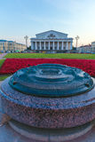 SAINT PETERSBURG, RUSSIA - JULY 25, 2014:  Bronze scale model of Stock Photography