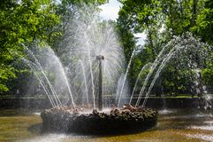 Fountain The Sun Royalty Free Stock Photo
