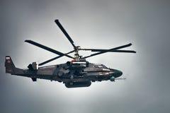 Ka-52 Alligator. Russian reconnaissance and attack helicopter. Saint Petersburg, Russia - July 30, 2017: Ka-52 Alligator, NATO code Hokum B. Russian Royalty Free Stock Photo