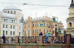 People walk around St. Petersburg stock photography