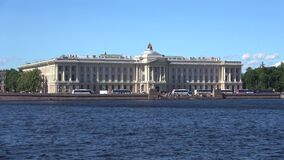 View of the old building of the Academy of arts, June day. Saint Petersburg