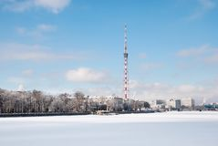TV Tower and modern buildings. St Petersburg. Russia Stock Image