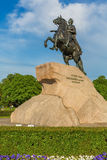 SAINT PETERSBURG, RUSSIA - MAY 30, 2015: Bronze Horseman equestrian statue of Peter the Great Royalty Free Stock Image