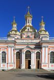 The facade of the Orthodox exaltation of the cross Cossack Cathe Royalty Free Stock Photography