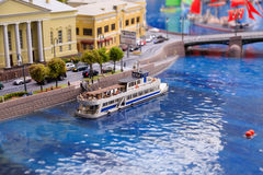 Saint Petersburg, Russia - May 13, 2017: Fragment Big Grand Maket Russia. Grand Maket Russia the world`s largest model Royalty Free Stock Photos