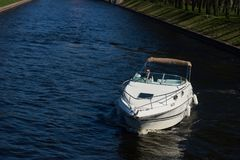 Motor boat on water Royalty Free Stock Photos