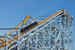 A popular attraction is the Russian roller coaster. Royalty Free Stock Photos
