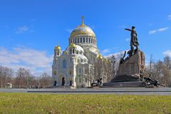 Naval Cathedral of St. Nicholas St. Nicholas stavropegic Naval Royalty Free Stock Photos