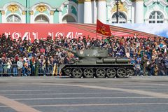 Soviet tank T-34-85 of the period of the Great Patriotic War stock photography
