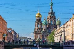 SAINT PETERSBURG, RUSSIA - MAY 28, 2015: View of Church of the Savior on Blood Royalty Free Stock Photo