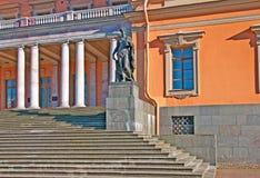 Saint-Petersburg. Russia. The Mikhailovsky Castle. SAINT-PETERSBURG, RUSSIA - AUGUST 4, 2015: Saint Michael's Castle (Mikhailovsky or Engineers' Castle). Nothern stock image