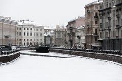 St. Petersburg Moika river embankment Stock Images