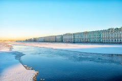 Saint-Petersburg. Russia. Neva River near Hermitage Stock Photos