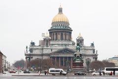 Saint-Petersburg, Russia - November 22: The famous St. Isaac cat Royalty Free Stock Photos