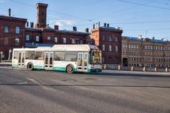 City ecological bus Stock Photo