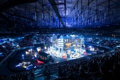 SAINT PETERSBURG, RUSSIA - OCTOBER 28 2017: EPICENTER Counter Strike: Global Offensive cyber sport event. Main venue and Stock Image