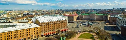 Saint-Petersburg, St-Petersburg, Russia. Panoramic view over St-Petersburg, Russia, from the dome of St. Isaac`s Cathedral, St-Petersburg Stock Photos