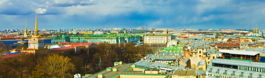Saint-Petersburg, St-Petersburg, Russia. Panoramic view over St-Petersburg, Russia, from the dome of St. Isaac`s Cathedral, St-Petersburg stock photos