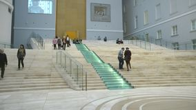 Saint-Petersburg. Russia. People in The General Staff Building stock video footage